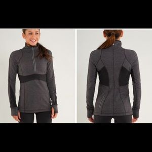 Lululemon Full Tilt Half Zip in Gray Stripe